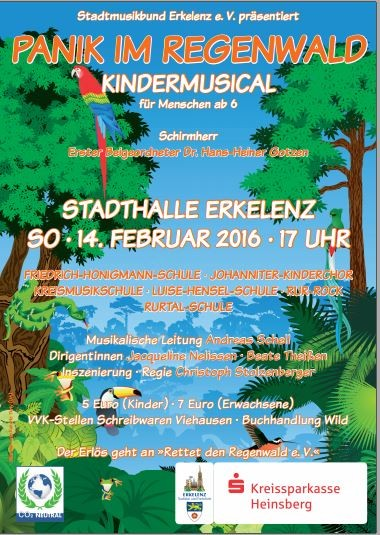 Plakat Regenwaldmusical 2016