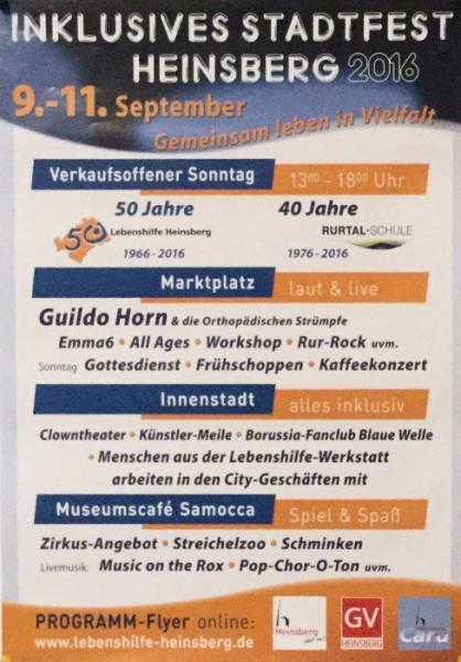 Plakat Stadtfest 2016
