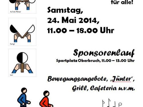 Plakat Schulfest 2014