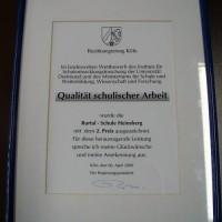 Die Urkunde des Regierungspräsidenten Köln