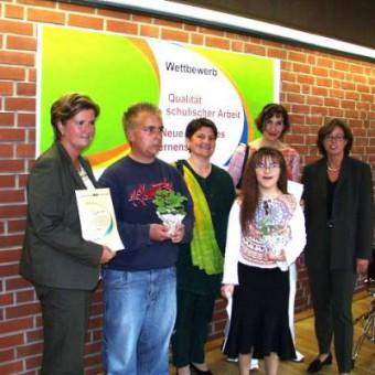 Die Sieger mit Frau Ministerin Ute Schäfer