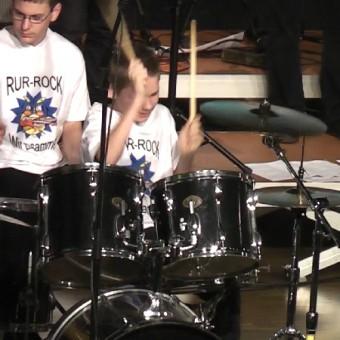 Jack beim Schlagzeugsolo