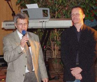 Bernd Schleberger u. Gastgeber Michael Schmitt