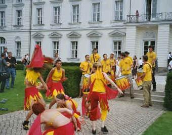 Eine Tanzgruppe