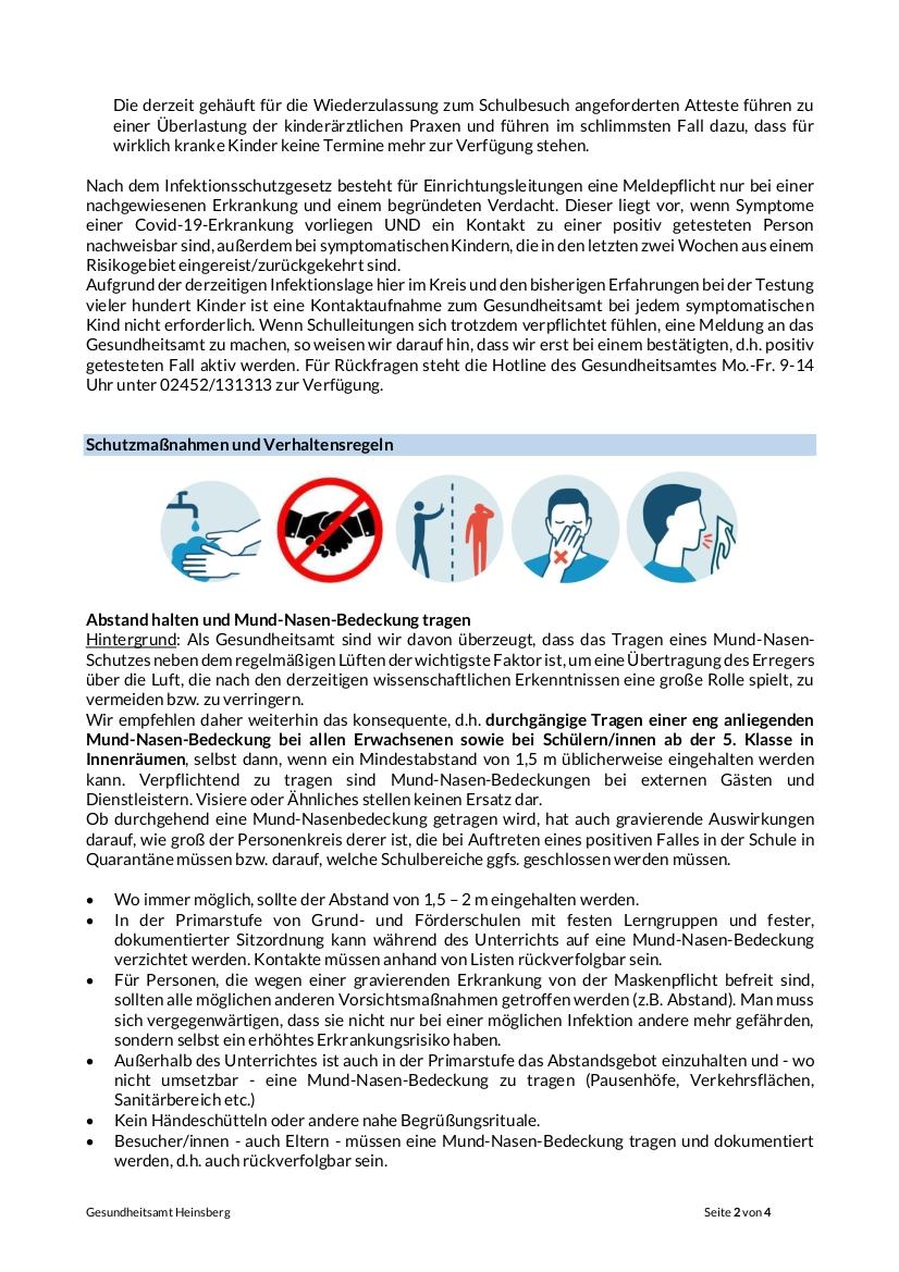 Corona 2-4 Infoblatt Schulen 16.09.2020 neutral