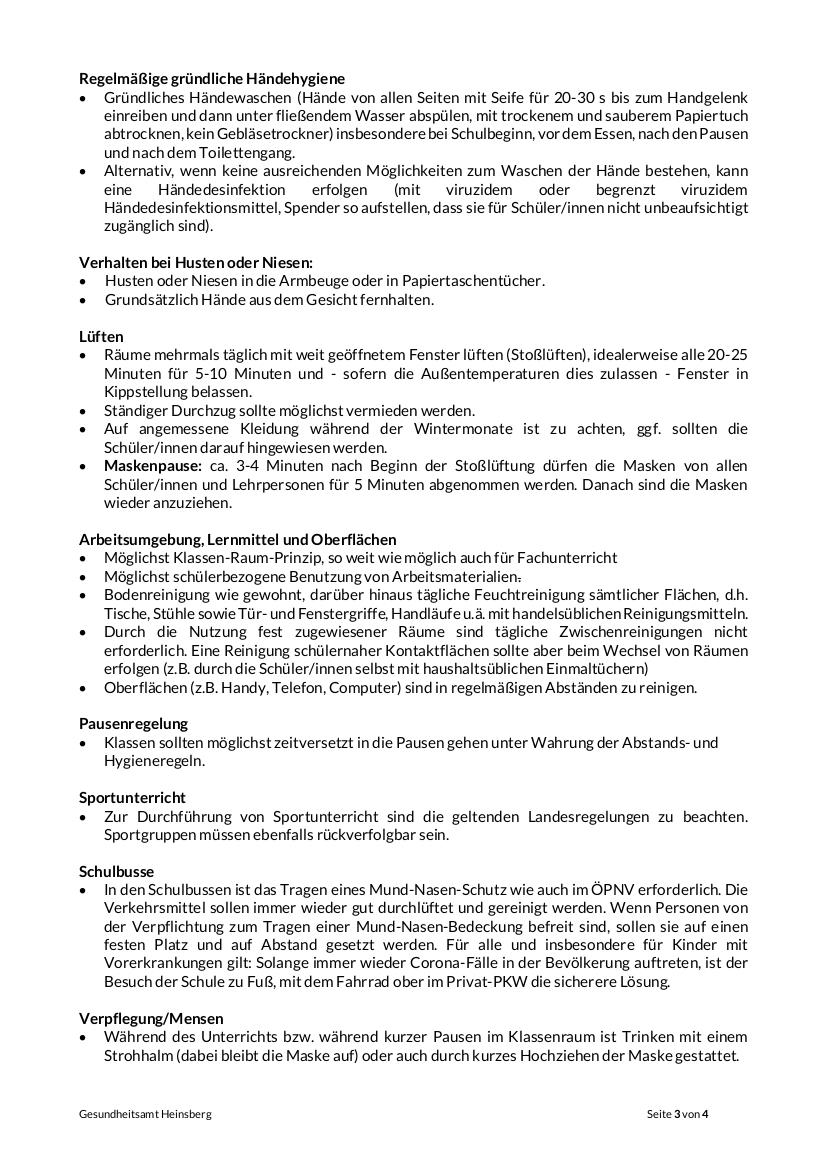 Corona 3-4 Infoblatt Schulen 16.09.2020 neutral