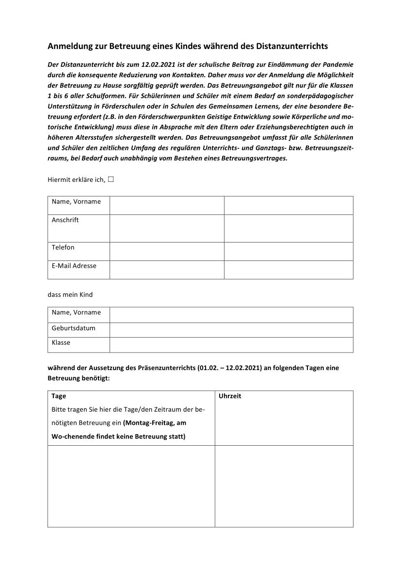 Anlage Anmeldung Betreuung bis zum 12.02.2021 1-2